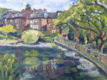 Landscape painting of Hampstead Heath ponds