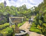 Landscape painting of Regent's park, London